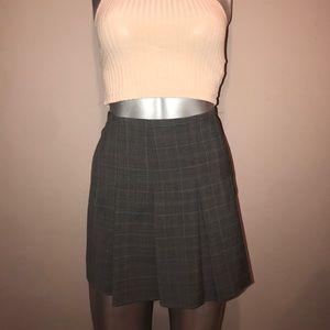 Pleated plaid school skirt
